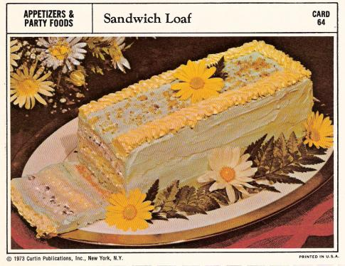 Sandwich Loaf Vintage Recipe Cards