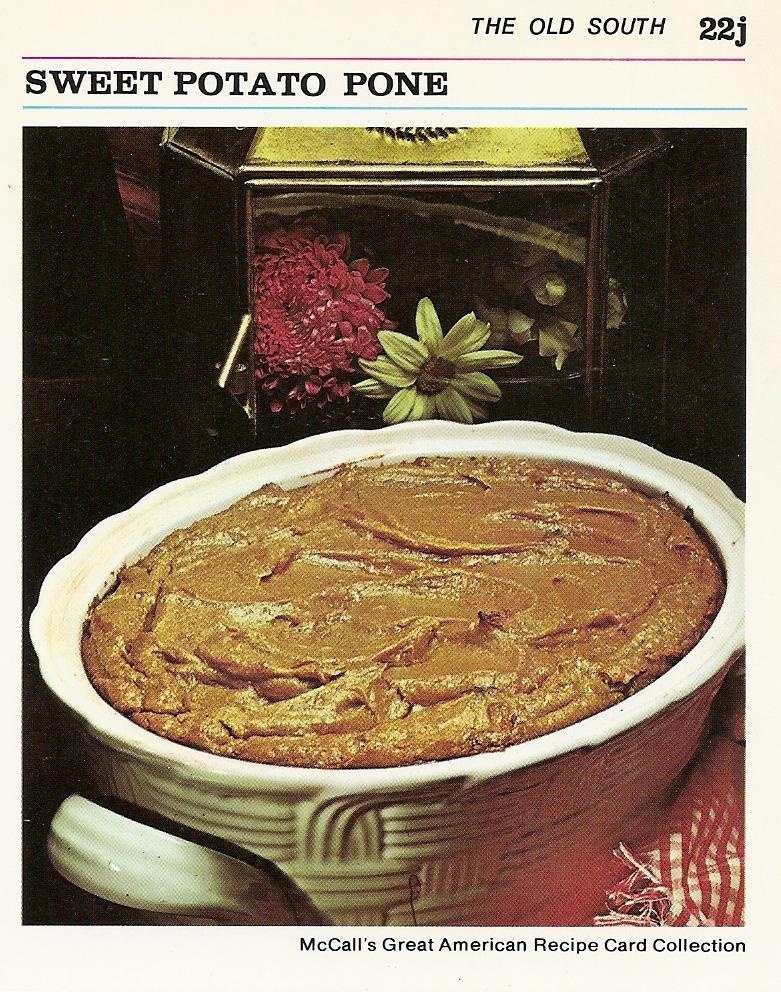 Sweet Potato Pone | Vintage Recipe Cards