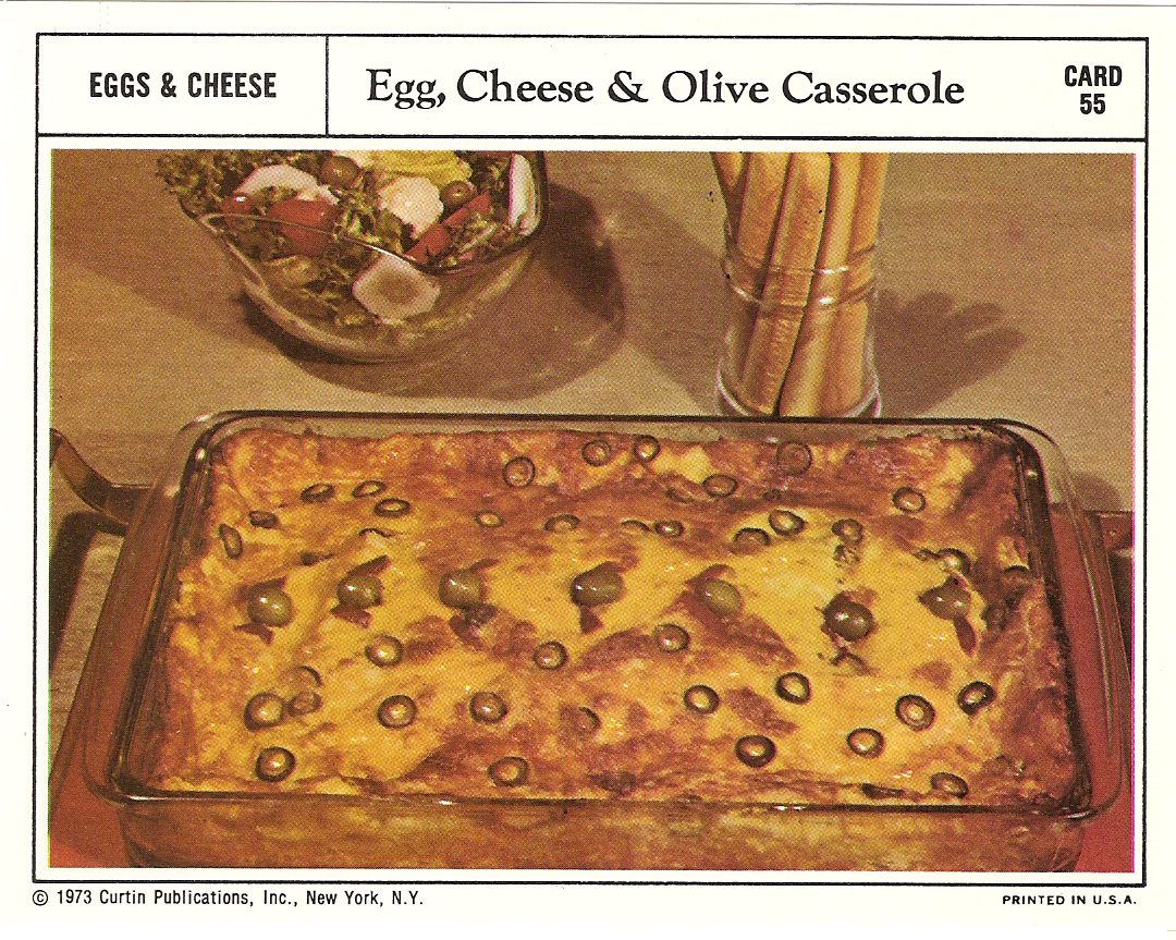 Egg cheese olive casserole vintage recipe cards vintage recipe cards 8 forumfinder Gallery