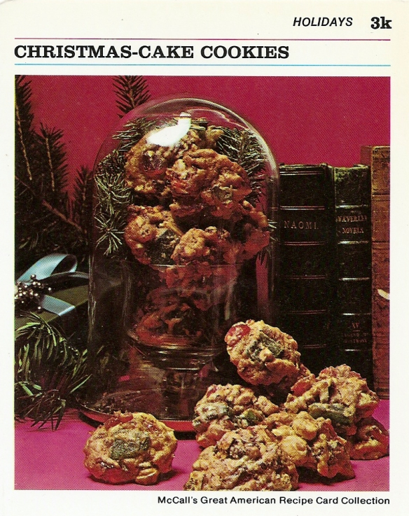 Christmas Cake Cookies Vintage Recipe Cards