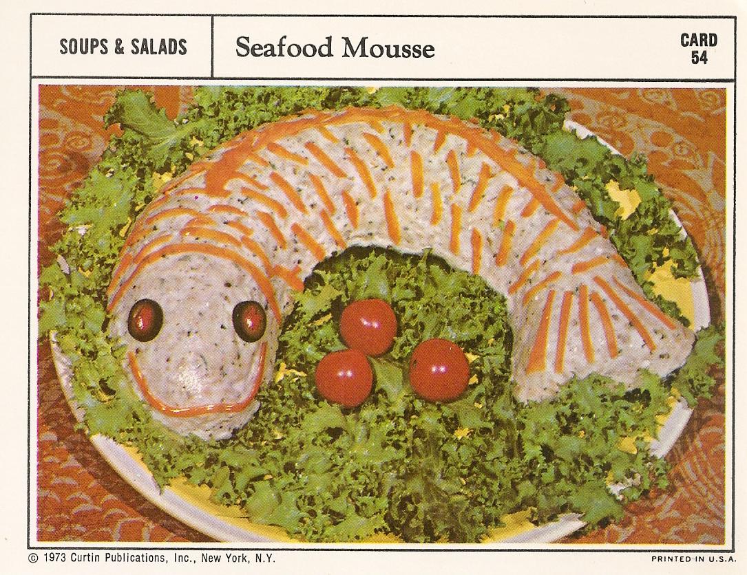 Seafood mousse vintage recipe cards 1 envelope unflavored gelatin forumfinder Choice Image