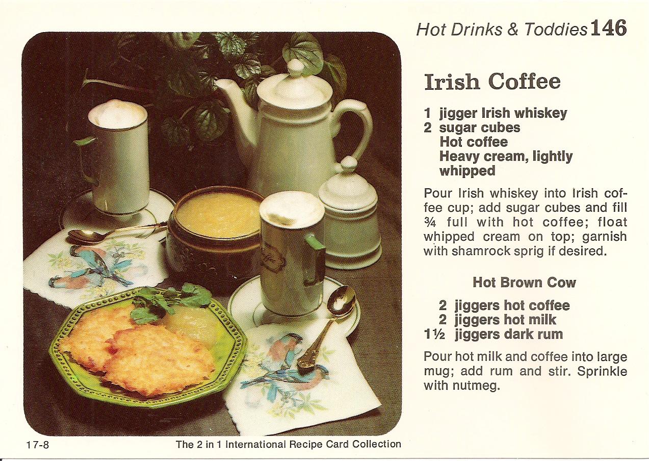 Irish Coffee & Irish Potato Pancakes with Rum Applesauce | Vintage ...