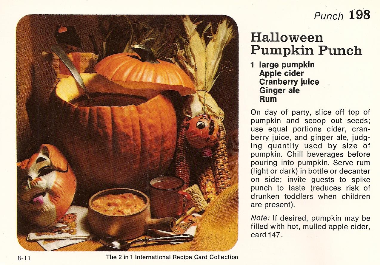 halloween pumpkin punch  u0026 goo
