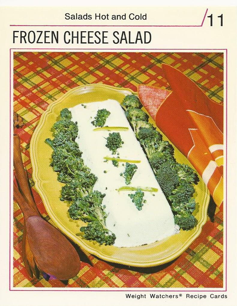 Frozen cheese salad vintage recipe cards vintage recipe cards weight watchers international recipe cards frozencheesesalad forumfinder Gallery