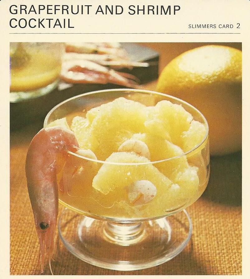 Grapefruit and Shrimp Cocktail | Vintage Recipe Cards