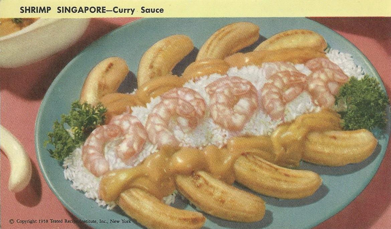 Shrimp singapore curry sauce vintage recipe cards vintage recipe cards shrimpsingapore forumfinder Images