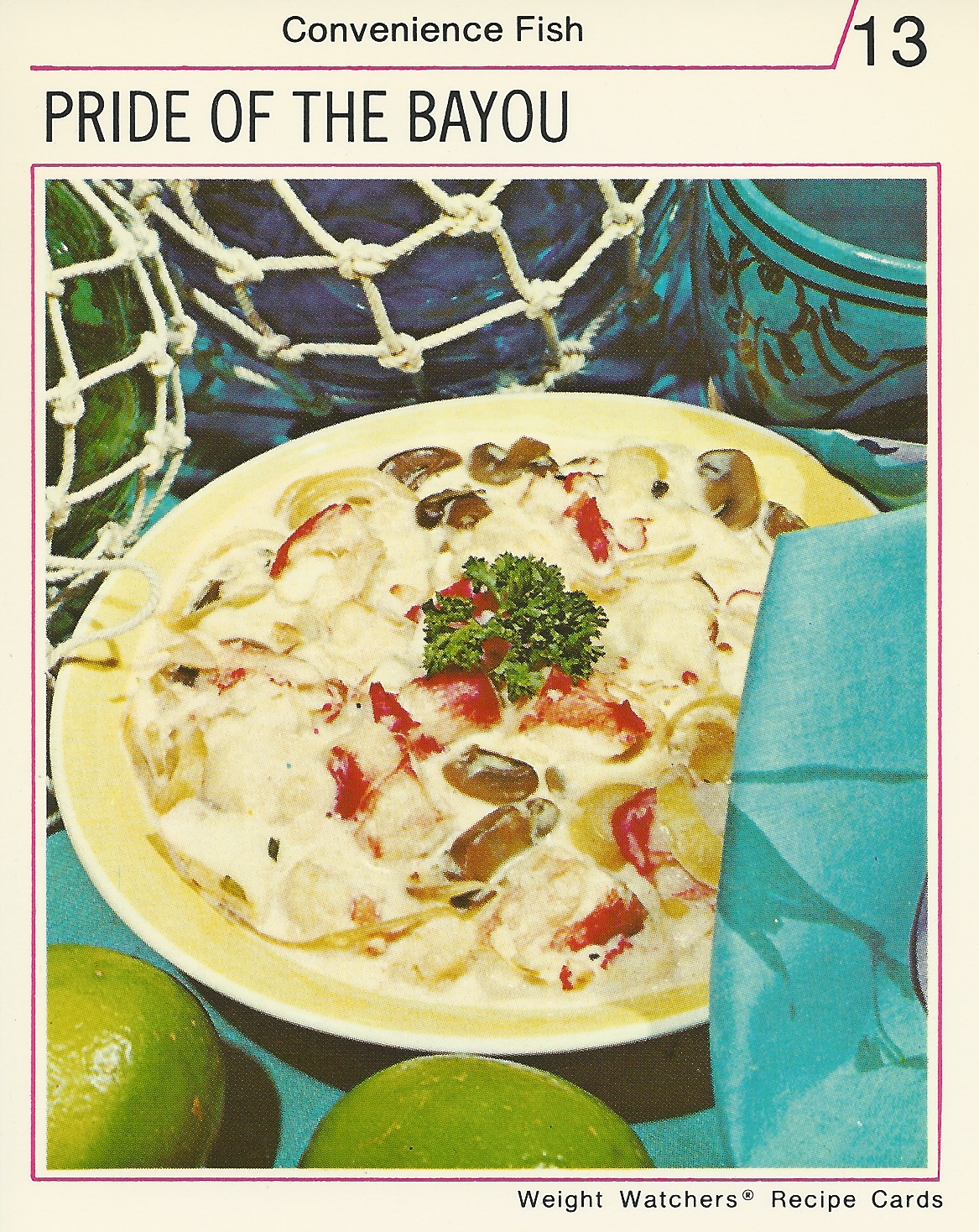 Pride of the bayou vintage recipe cards vintage recipe cards weight watchers international recipe cards prideofbayou forumfinder Gallery