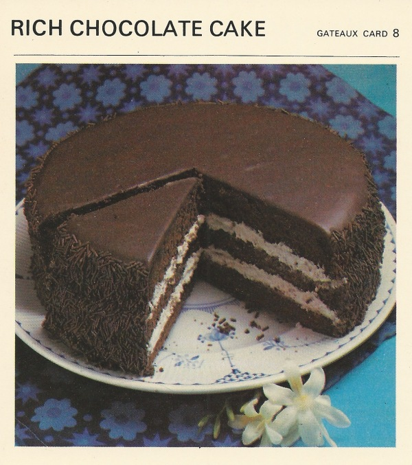 ... Patten's Recipe Cards , rich chocolate cake , vintage recipe cards