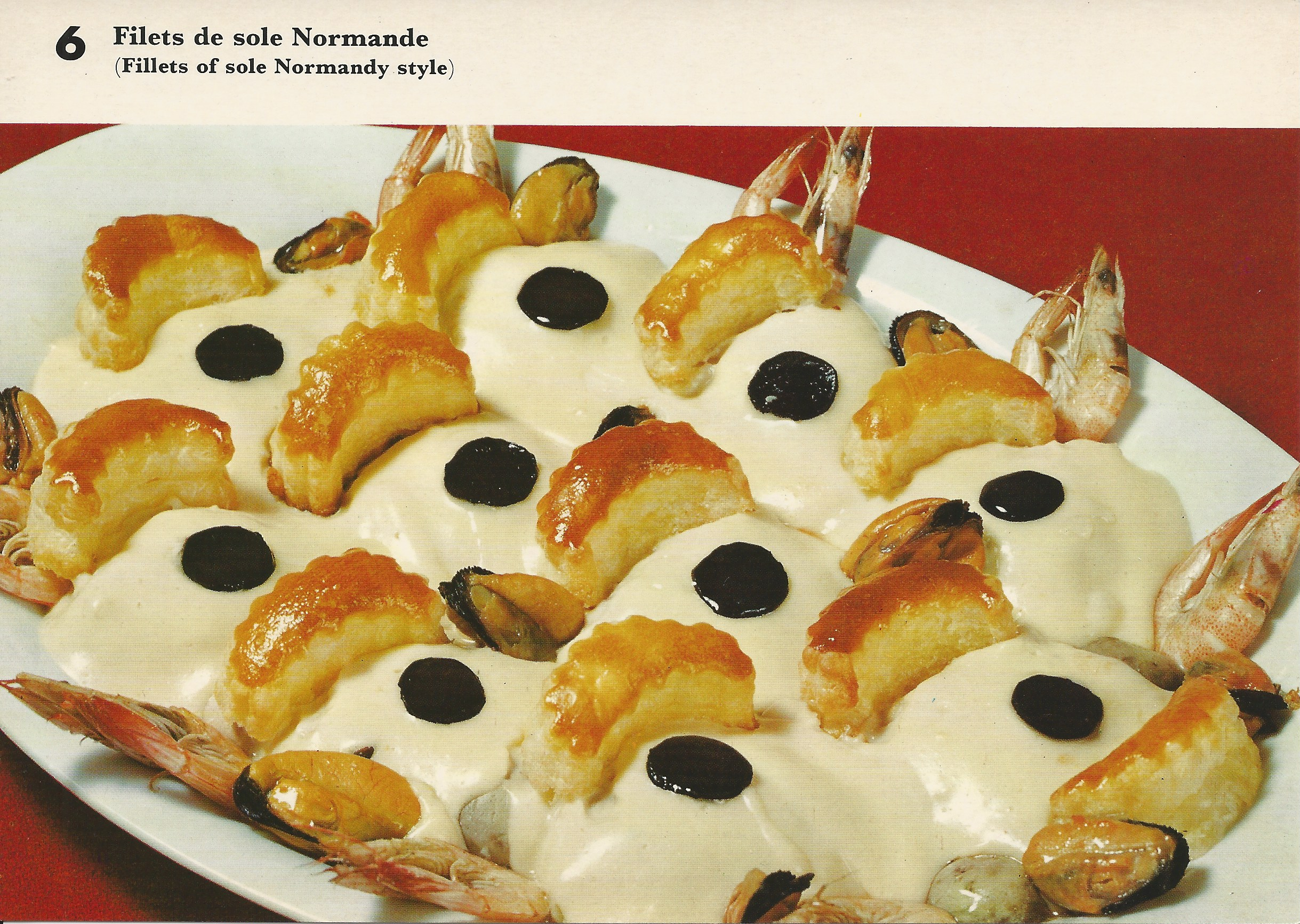 Filets de sole Normande (Fillets of sole Normandy style)  Vintage