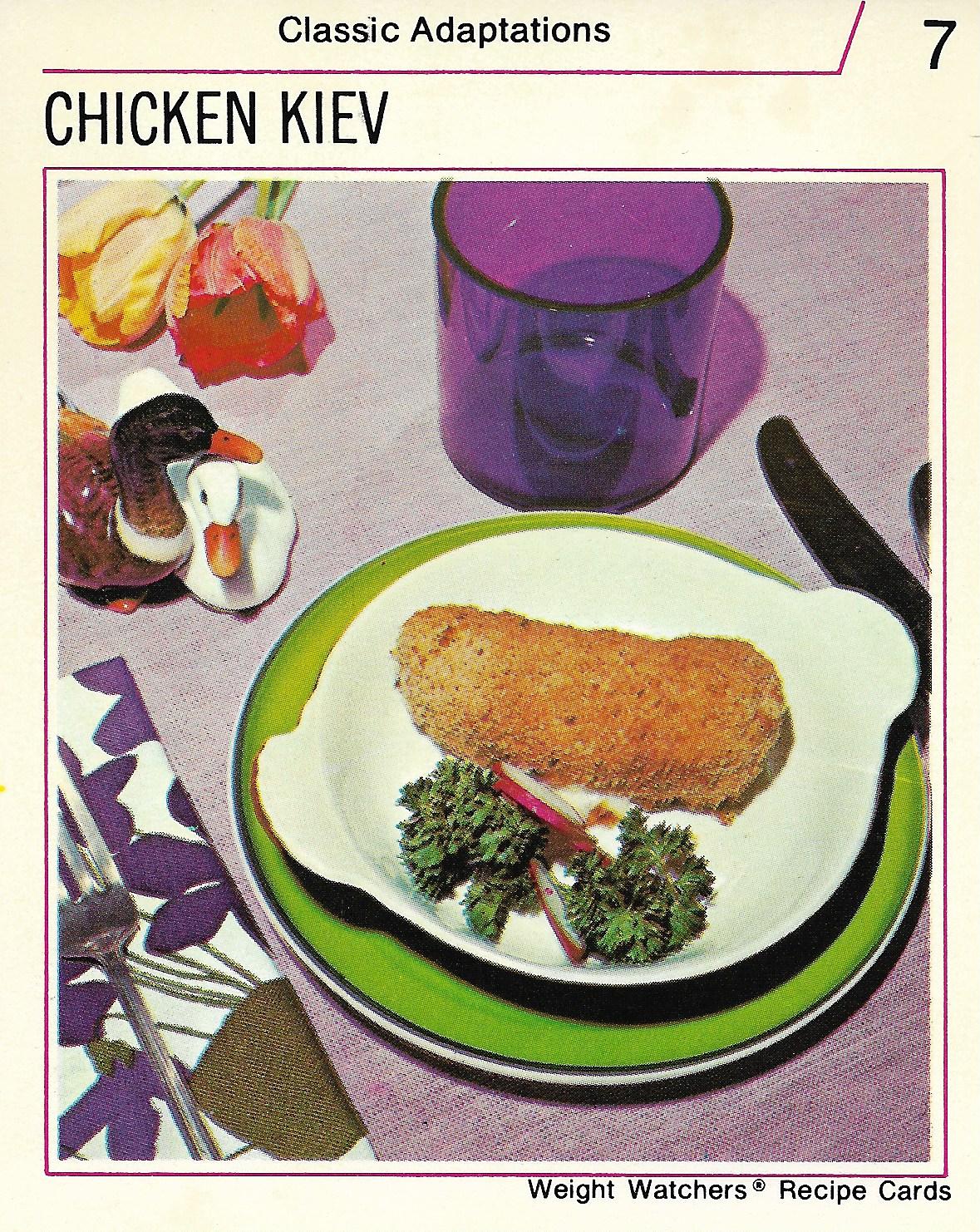 Chicken kiev vintage recipe cards forumfinder Images