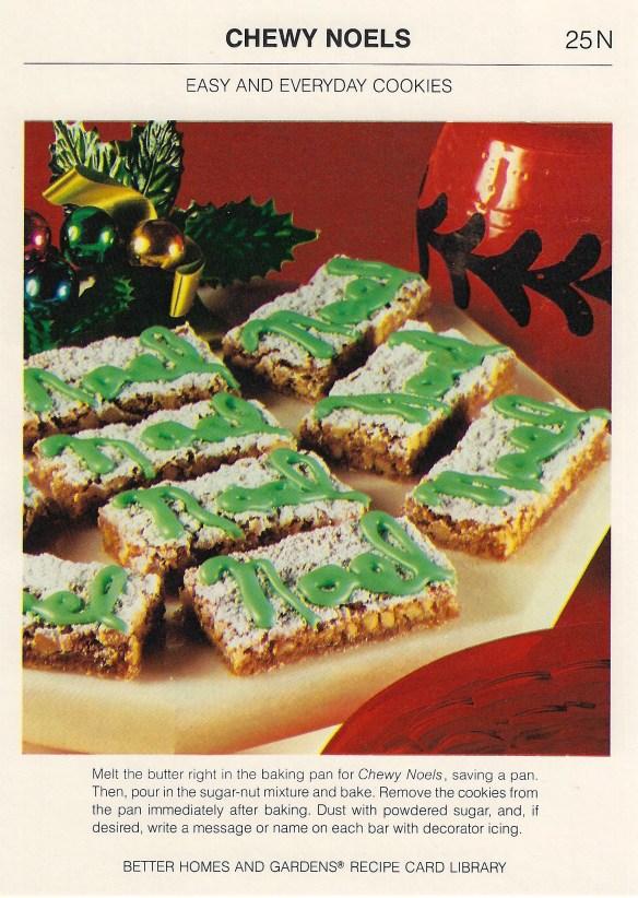 Chewy Noels | Vintage Recipe Cards